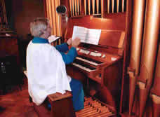Malcolm at the organ